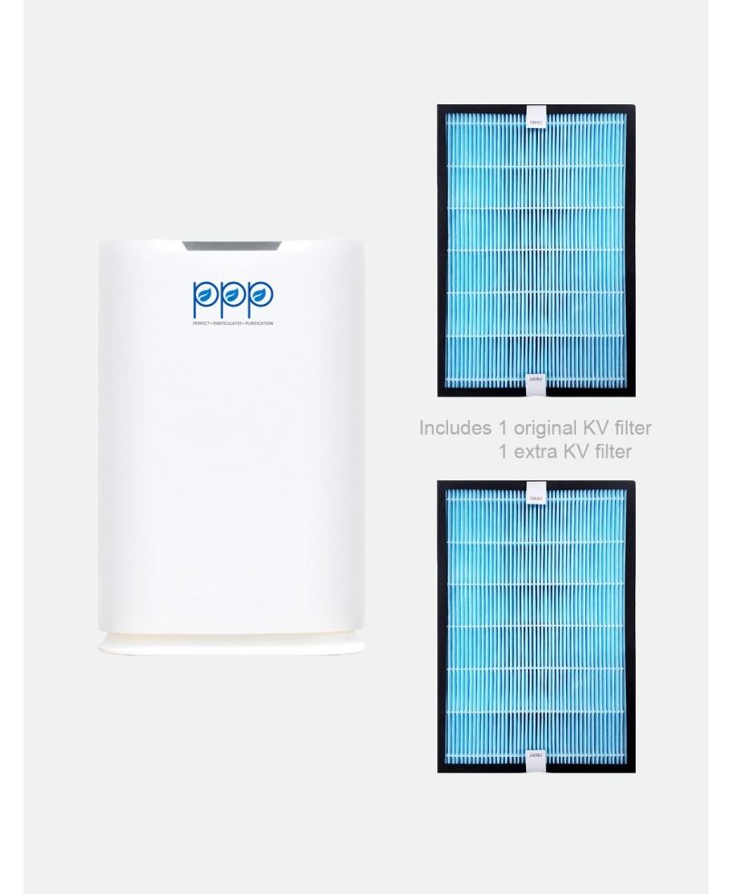 Bundle of PPP Air Purifier PPP-400-01 With KV Filter + Extra KV Filter