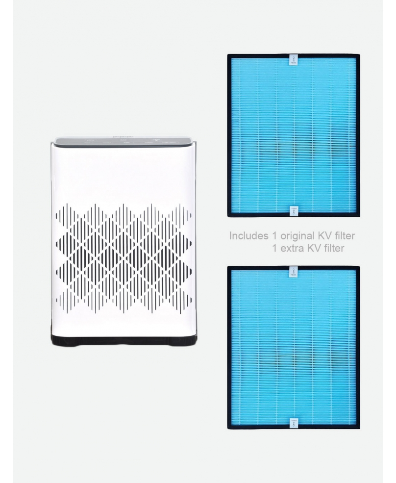 Bundle of PPP Medical Grade Air Purifier PPP-1100-01 With KV Filter + Extra KV Filter